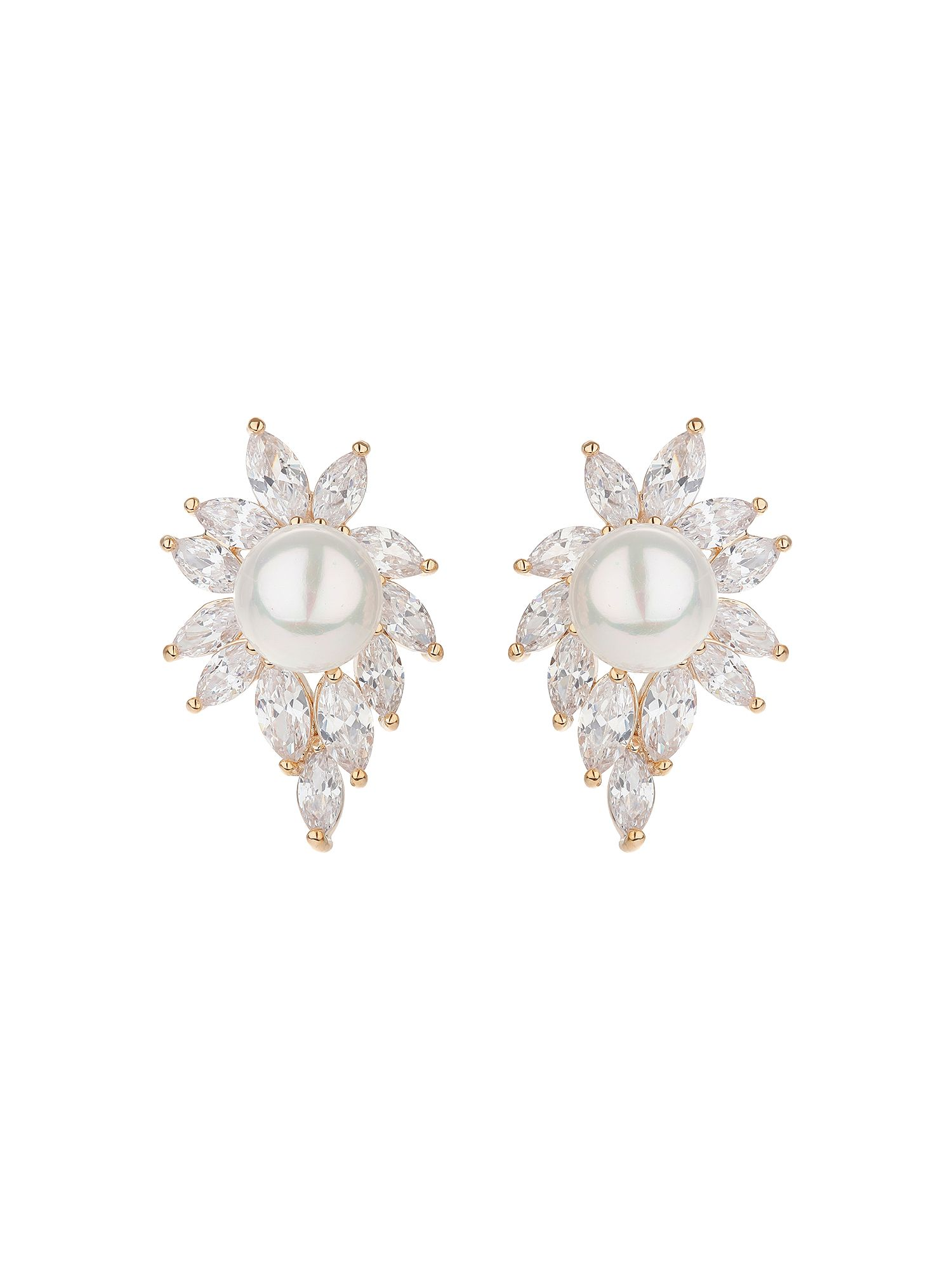 mikey pearl centre eclipse cubic edged earring