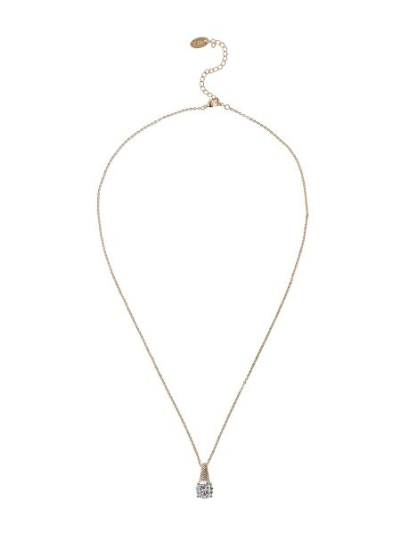 Mikey Round cubic edged hook necklace