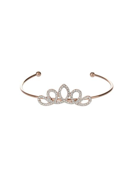 Mikey Edged crown design cuff bracelet
