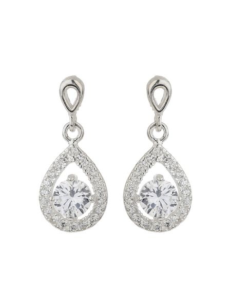 Mikey Silver 925 Oval Cubic Edged Earring