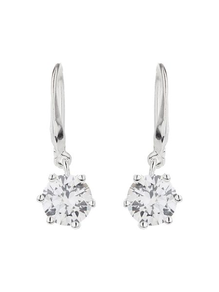 Mikey Silver 925 Cubic Stone Drop Earring