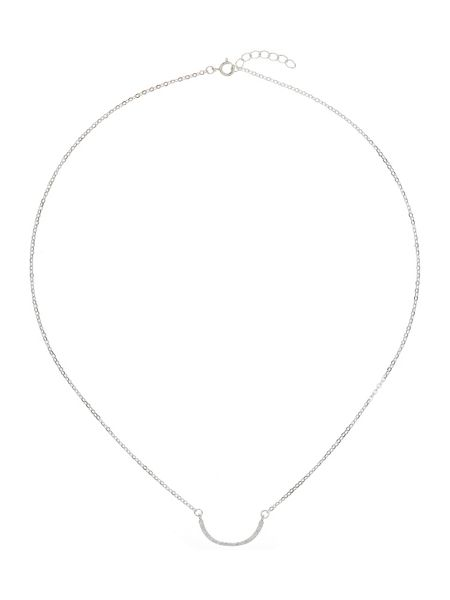 Mikey Silver 925 Embed Crescent Design Pendant