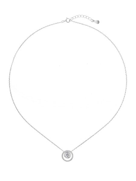 Mikey Silver 925 Embed Circle Stone Pendant
