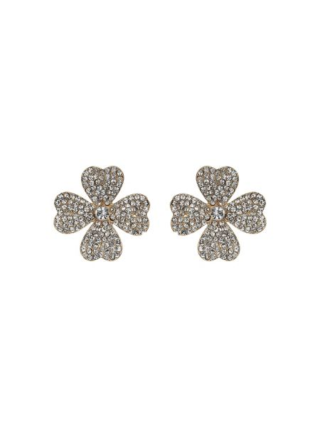 Mikey Crystal embed flower stud earring