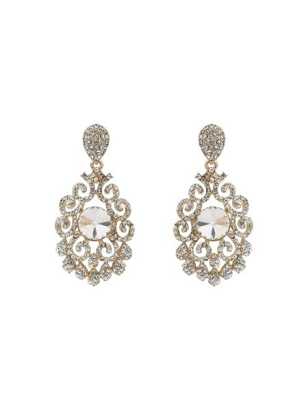 Mikey Filigree crystal spread earring