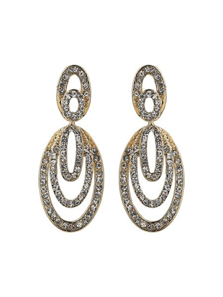 Mikey Multi oval crystal embed earring