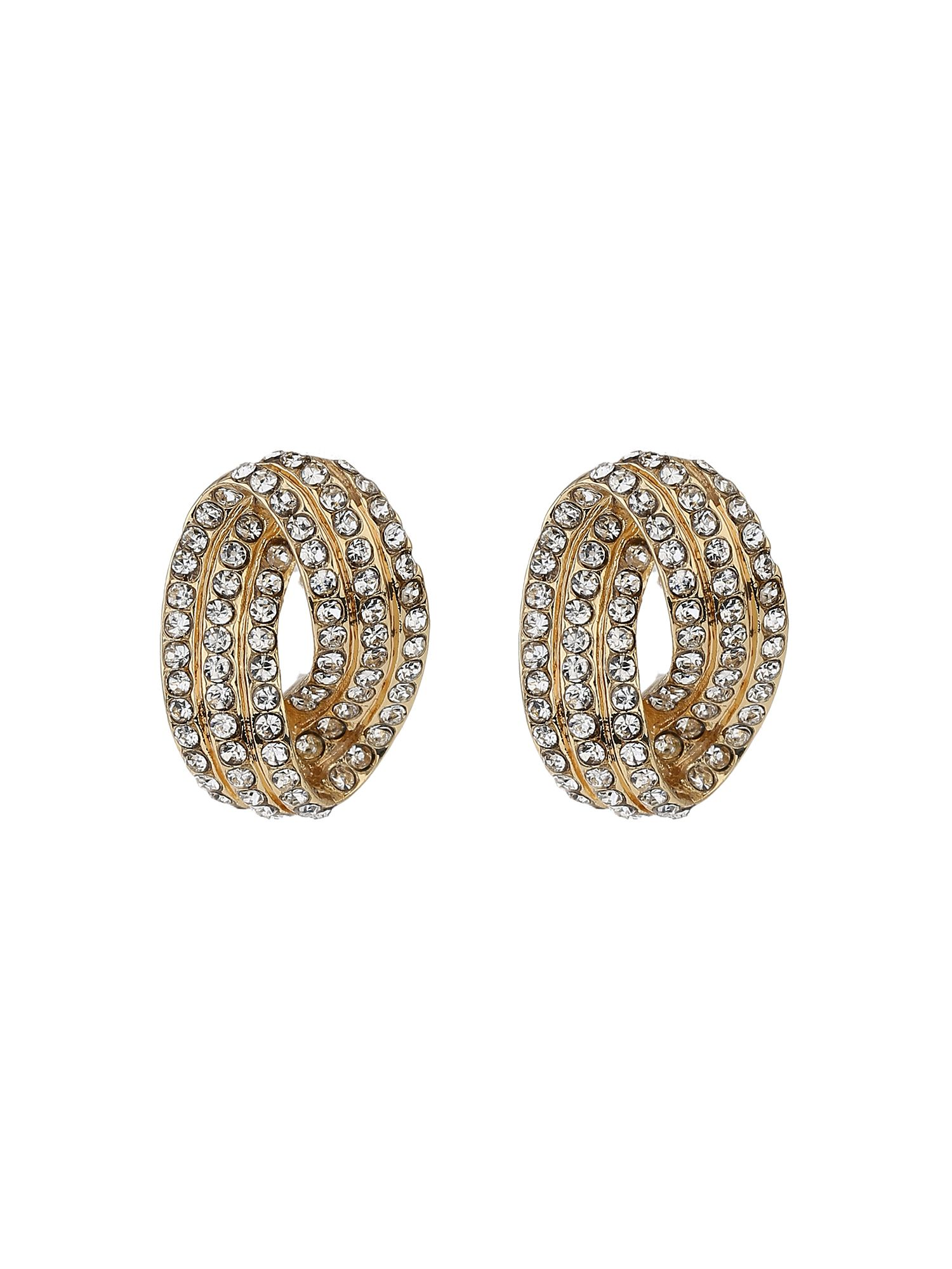 mikey twisted eclipse crystal stud earring