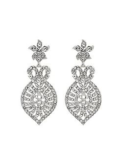 Dome eclispe crystal drop earring