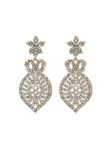 Mikey Dome eclispe crystal drop earring