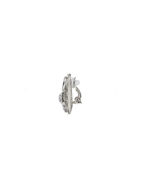 Mikey Triangle crystal clipon earring