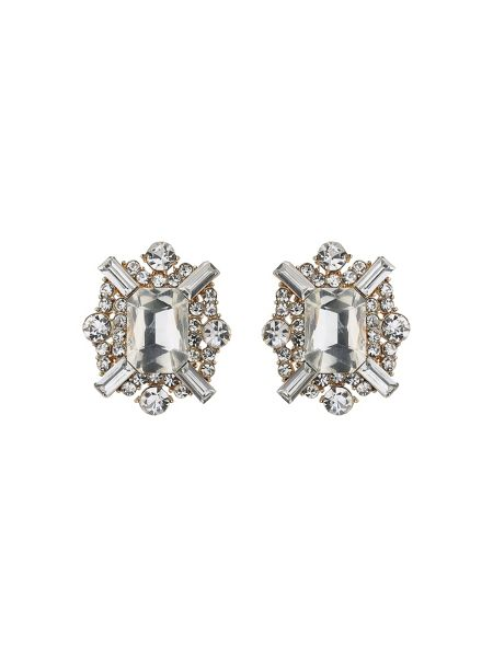 Mikey Square baugette clipon earring