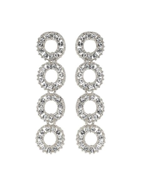 Mikey Crystal ring linked drop earring