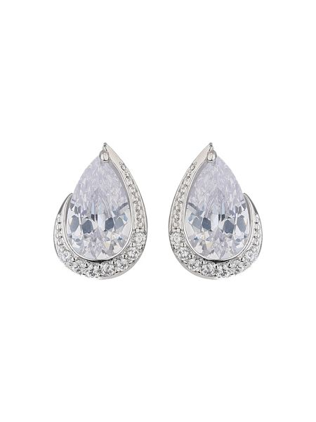 Mikey Oval cubic edged crystal stud earring