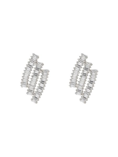 Mikey Triple baugette strip stud earring