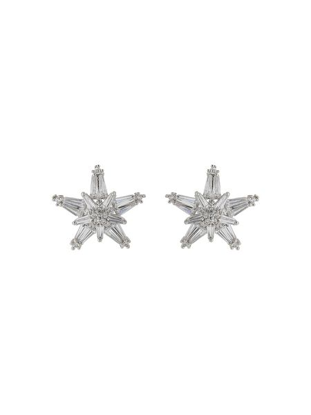 Mikey Cubic baugette star design stud earring