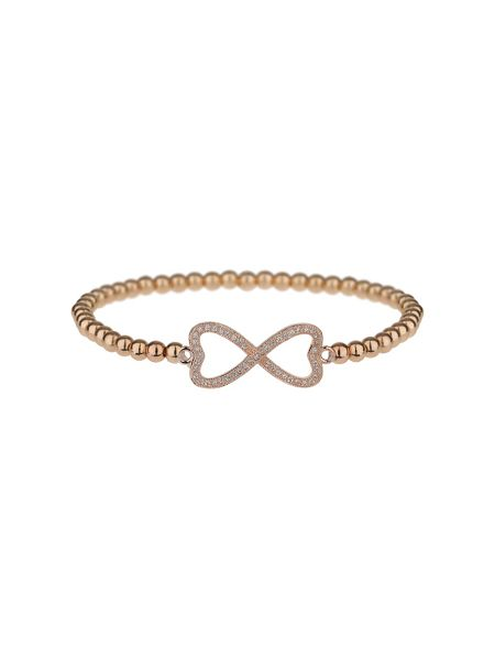 Mikey Cross over love cubic bracelet
