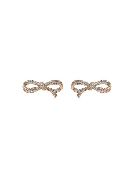 Mikey Fine edge cubic bow earring