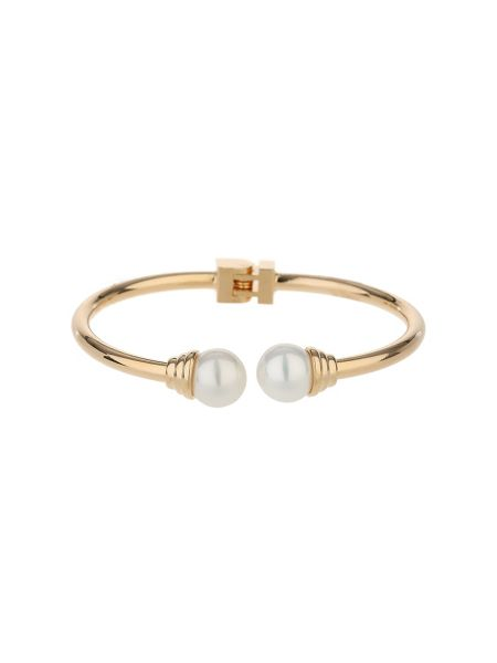 Mikey Twin pearl end hinged bracelet