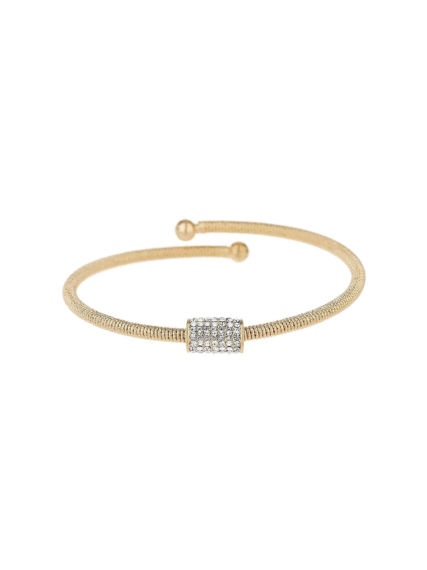 Click to view product details and reviews for Mikey Crystal Embed Tube Spring Bracelet N A.