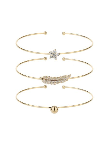Mikey Three cuff bracelet leaf ball star