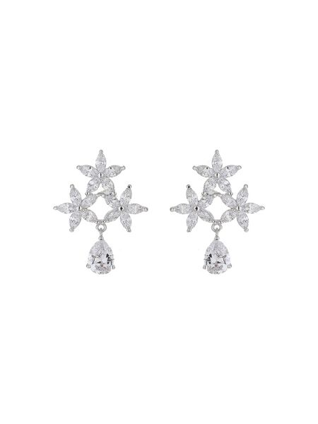 Mikey Triple crystal star stud earring