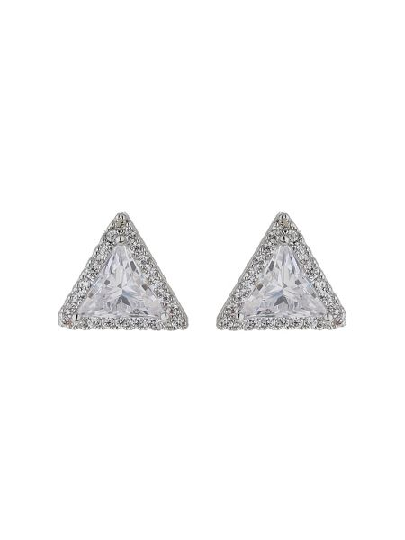 Mikey Triangle crystal stud earring