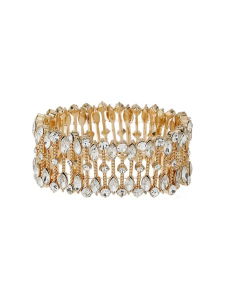Mikey Oval crystal wide elastic bracelet