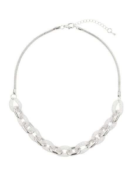 Mikey Crystal rope cover chain link necklace