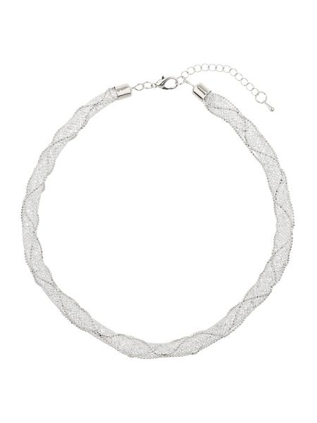 Mikey Crystal rope cover wire woven necklace