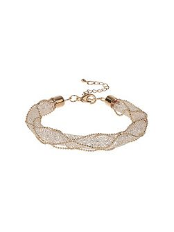 Crystal rope cover wire woven bracelet