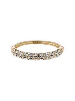 Bangle shape crystal embed bracelet