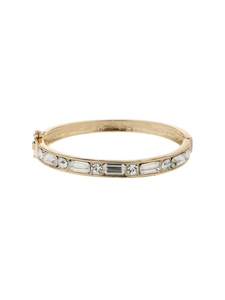 Mikey Rectangle crystal link bracelet