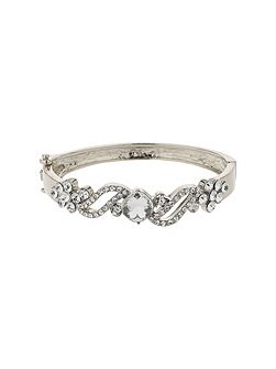 Filigree twist crystal centre bracelet