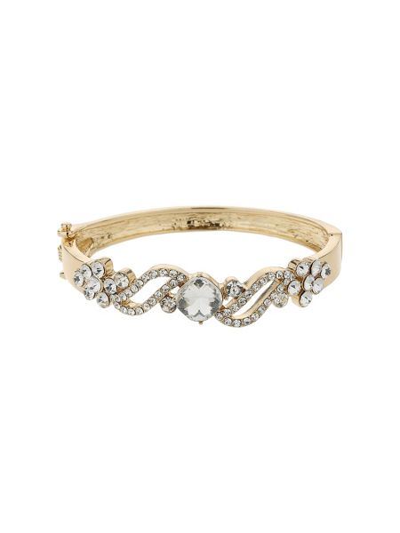 Mikey Filigree twist crystal centre bracelet