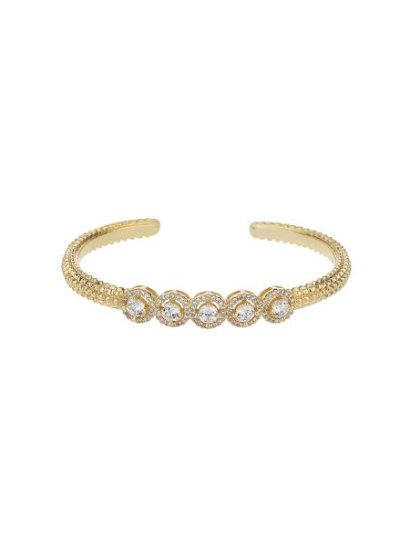 Mikey 5 round cubic buttons cuff bangle