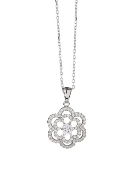Mikey Sterling Silver 925 Daisy Crystal Pend