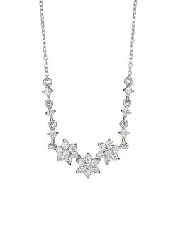 Sterling Silver 925 Daisy Link Pendant