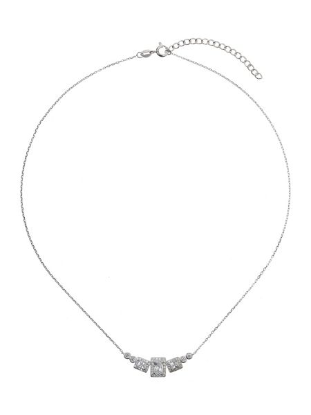 Mikey Sterling Silver 925 Square Pendant