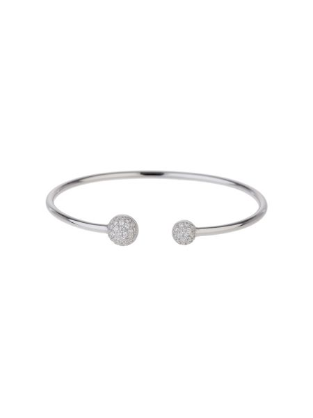 Mikey Sterling Silver 925 Twin Disc End Bangle