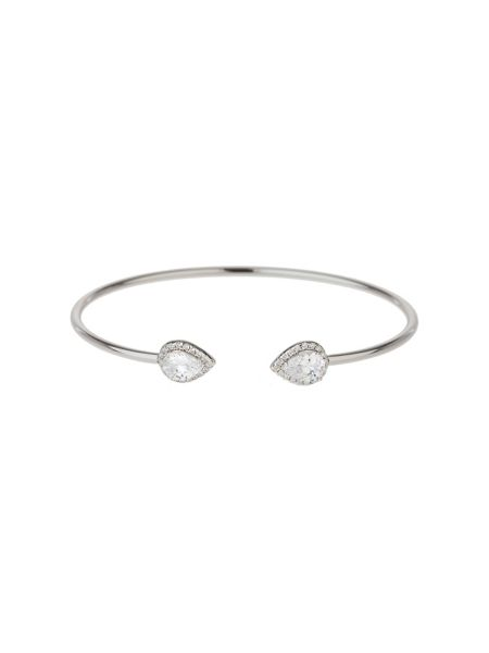 Mikey Sterling Silver 925 Twin Oblong Bangle