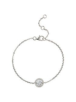 Sterling Silver 925 Circle CentreTennis