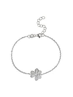 Sterling Silver 925 Daisy Centre Tennis