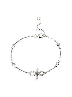 Sterling Silver 925 Twist Centre Tennis