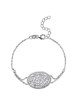 Sterling Silver 925 Oblong Centre Tennis