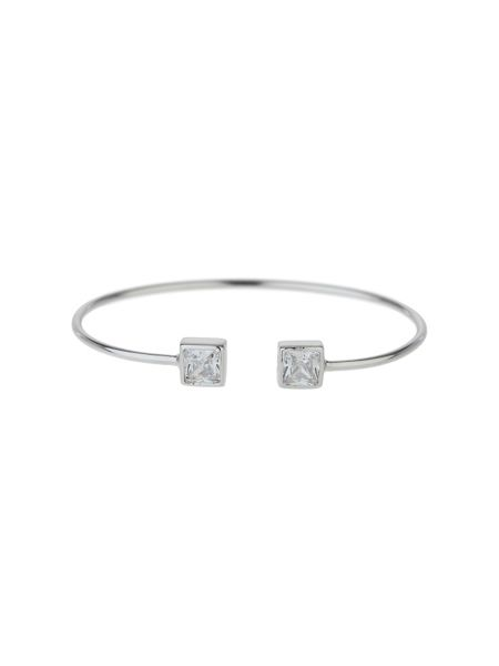Mikey Sterling Silver 925 Twin Square Bangle