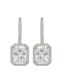 Mikey Sterling Silver 925 Hoop Square Earring