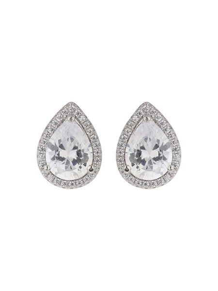 Mikey Sterling Silver 925 Oval Stud Earring