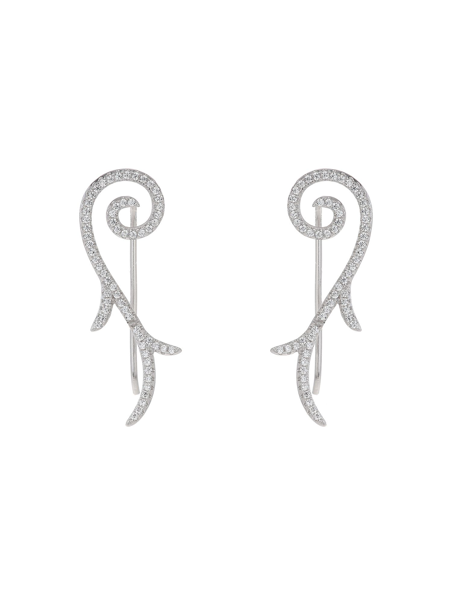 mikey sterling silver 925 filigree dropearring