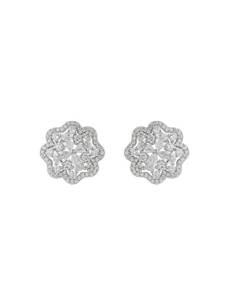 Mikey Sterling Silver 925 Daisy Stud Earring