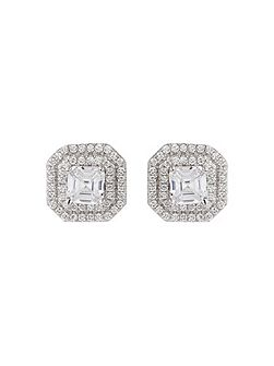 Sterling Silver 925 Square Stud Earring